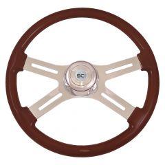 """18"""" Classic Mahogany Steering Wheel"""