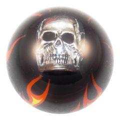 Black Flame Skull Tractor/Trailer Air Valve Knob