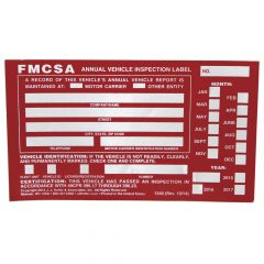 Aluminum Annual Vehicle Inspection Label