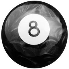 Black Pearl 8 Ball Shifter Knob