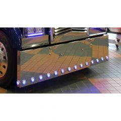 "Kenworth W900L 22"" Boxed End Chrome Bumper"