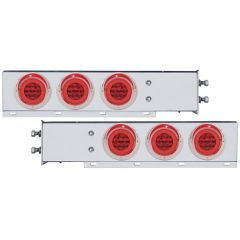 """SS Rear Light Bars Red Halo LED 2.5"""" Spacing"""