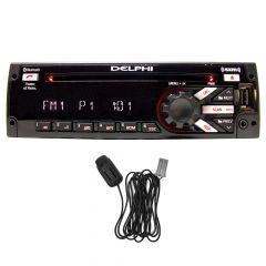 Delphi SiriusXM Satellite Radio with Bluetooth Mic, Blue/Red