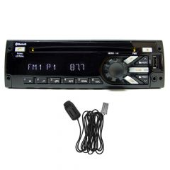 Delphi Red & Blue Radio AM/FM/WB/AUX/USB/CD & Mic