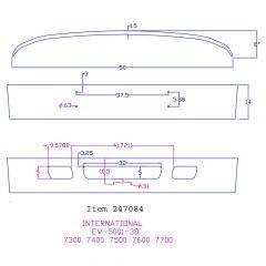 "International 14"" Factory Style Chrome Bumper"
