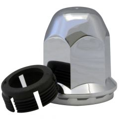 33mm Alcoa Chrome Plastic Nut Cover - Thread Clip