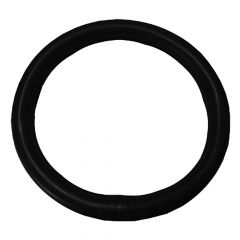 """Deluxe Smooth Black Steering Wheel Cover 18"""""""