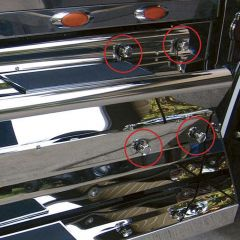 Kenworth Stainless Steel Battery Box Knobs