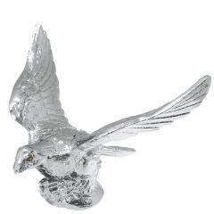 Chrome Flying Eagle With Illuminated Eyes