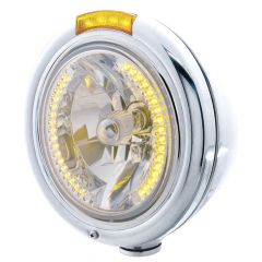 Stainless Classic H4 Headlight Dual Function LED