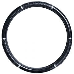"""Black Steering Wheel Cover with Grippers 18"""""""