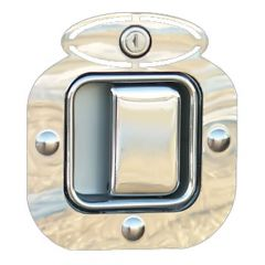 Peterbilt SS Oval Door Latch and Keyhole Trim