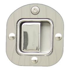 Peterbilt SS Round Door Latch and Keyhole Trim