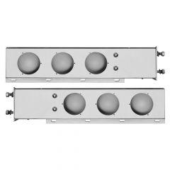 "Stainless Rear Light Bar Shells 3-3/4"" Spacing"