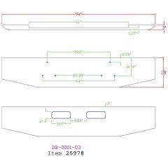 """GMC 18"""" Tapered Chrome Bumper"""