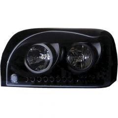 Freightliner Century Blackout Headlights