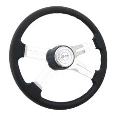 4 Spoke Polyurethane Steering Wheel 18""