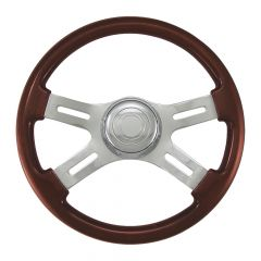 4 Spoke Wood Steering Wheel 16""