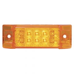 """6"""" x 2"""" 10 LED Spyder Wide Angle Marker and Turn Signal Light"""