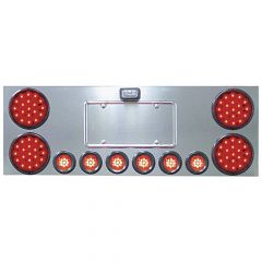 """Stainless Steel Center Panel with 4"""" and 2"""" LED Lights"""