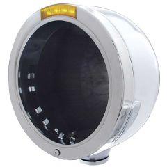 PB Half Moon Headlight Housing with Amber LED