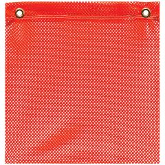 """18"""" x 18"""" Jersey Grommet Mount Safety Flag"""