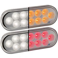 "6-1/2"" 12 LED Oval Dual Revolution Light"