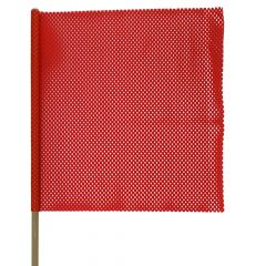 "18"" x 18"" Warning Flag with Pole"