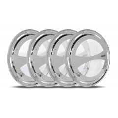 Aero Wheel Covers with Clear Window for Dual Wheel Axles 4PK