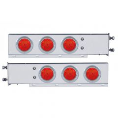 """SS Rear Light Bars with LED, 3.75"""" Spacing"""