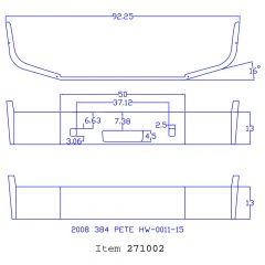 "Peterbilt 384 13"" Set Back Chrome Bumper"
