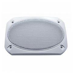 """7"""" x 4-7/8"""" Peterbilt Chrome Speaker Cover"""