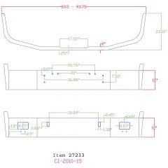 """Freightliner FLD 112 12"""" Set Back Chrome Bumper"""