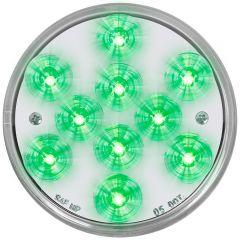 """4"""" Mega 10 Plus Green/Clear LED Light"""