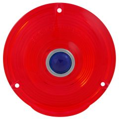 """4"""" Red Plastic Lens with Blue Dot"""