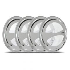 Aero Wheel Covers with Clear Window for Super Single Axle 4PK