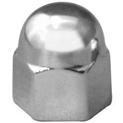 "7/16"" Chrome Zinc Acorn Nut Cover - Push On"