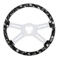 "18"" 4 Spoke Skull Print Steering Wheel"