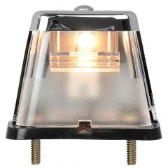 Chrome Square Stud-Mounted License Plate Light