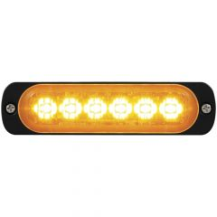 6 High Power Amber LED Directional Warning Light