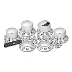 Front & Rear Axle Cover Kit, Dome, 33mm Threaded
