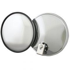 "Stainless 8"" Convex Blind Spot Mirror Offset Mount"
