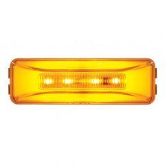 Amber 10 LED Rectangular Glow Marker Light