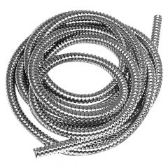 "1/2"" Dia. x 10' Stainless Steel Flexible Wire Loom"
