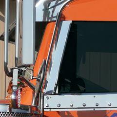 Peterbilt Stainless Window Air Deflectors 2006+