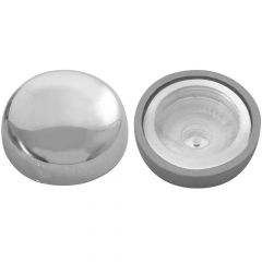 Chrome Snap-On Cover for 10/12 Screws 10PK