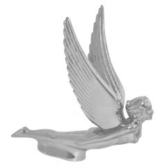 Chrome Flying Goddess Hood Ornament