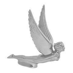 Chrome Flying Goddess Hood Ornament