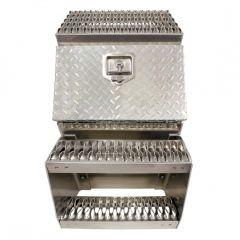 """18"""" Aluminum Step Saddle Box"""