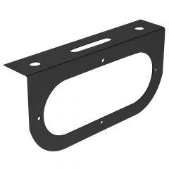 Black Single Oval Light Bracket